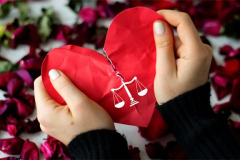 Law sign in the heart