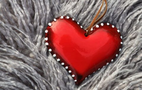 Red color heart