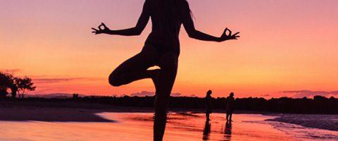 Lady give yoga pose