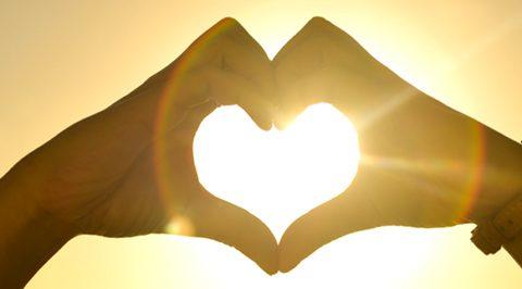 Make heart shape using hands